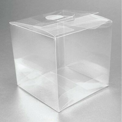 50 Plastic Wedding Favor Clear Boxes Perfect for Shot Glasses, Votive Holders