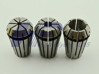 "ER20 3 PCS Spring Collet Set for CNC Workholding & milling Lathe 1/2"" 1/4"" 1/8"""