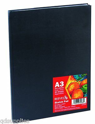 Reeves Hard Back Case Bound Sketch Book - Drawing Pad Sketching Paper - Size A3