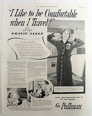 ADVERTISING 1940 PULLMAN COMPANY ONE PAGE MAGAZINE AD