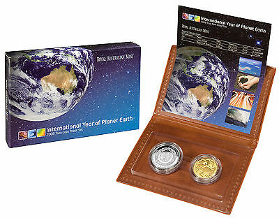2008 Australian Two Coin PROOF Set $1 and 20c International Year of Planet Earth