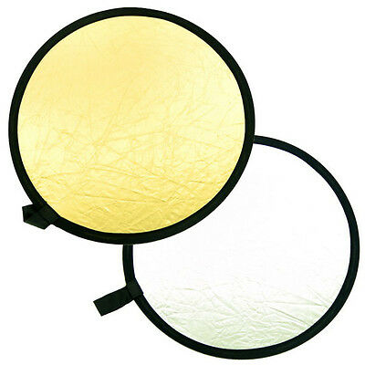 2 in 1 Silver Gold 24 inches Portable Photo Studio Collapsible Disc Reflector