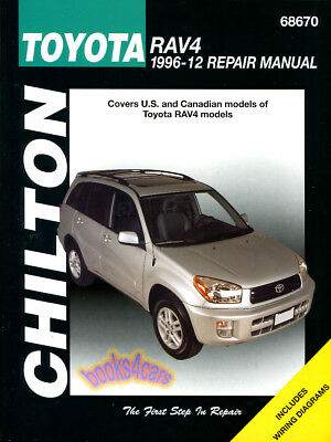 Shop Manual Rav4 Service Repair Toyota Book Chilton Haynes Workshop
