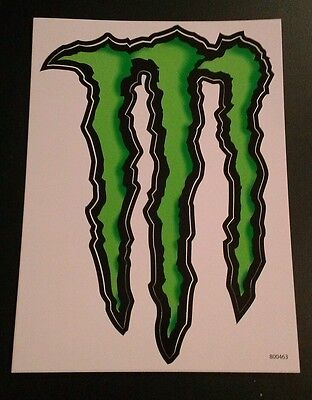 "Large ""M"" Monster Energy Sticker / Decal 8.5"" by 6"""