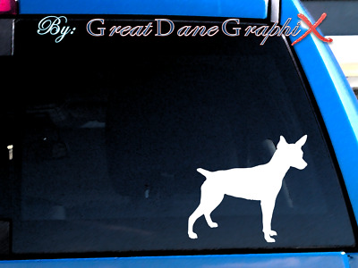 Rat Terrier Vinyl Decal Sticker / Color Choice - HIGH QUALITY