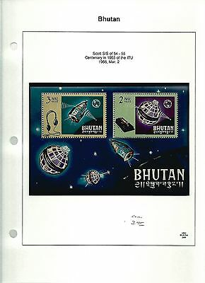 Bhutan, Postage Stamp, Space Topical, #54-55 Mint NH Sheet, 1966