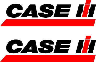 2 CASE Tractor Decals  Die Cut  FREE SHIPPING