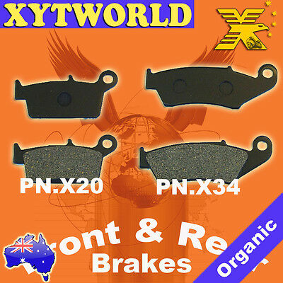 FRONT REAR Brake Pads for Yamaha YZ 426 F 2000-2002