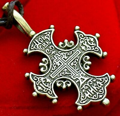 ORTHODOX RUSSIAN  BRONZE CROSS. IN OLD STYLE . XVI C COPY.OLD BELIEVER. NEW