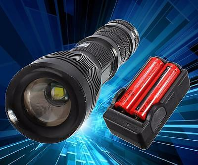 UltraFire 3000Lm CREE XM-L T6 LED Zoomable Flashlight Torch Lamp Battery + CH