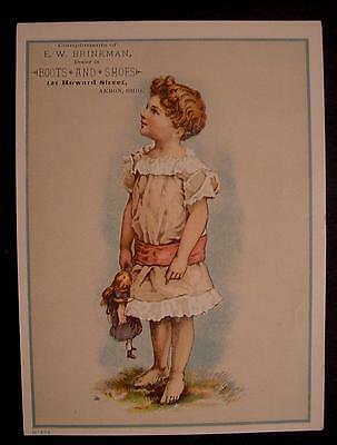 Trade Card-Brinkman Shoe Dealer-Akron Ohio-Large-Early