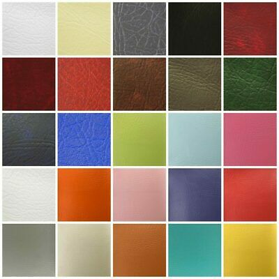 LEATHERETTE VINYL FABRIC 1m METRE Fire Retardant Faux Leather Upholstery Fabric