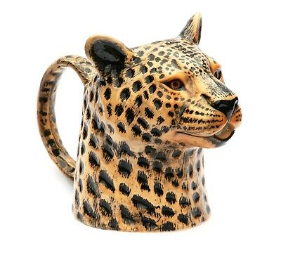 Leopard Jug By Quail Pottery Wildlife Nature Animal Hand Painted Gift