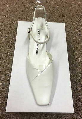 Ivory Leather Bridal Bridesmaid Shoes Sizes 3-8 By Pure & Precious Style Kennedy
