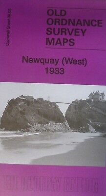 Old Ordnance Survey Map  Newquay West Cornwall 1933 S39.03 Brand new map