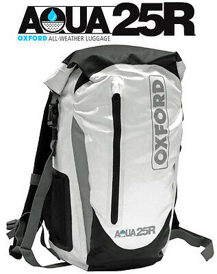 MOTORCYCLE WATERPROOF BACKPACK RUCKSACK AQUA AQUA25R ALL WEATHER LUGGAGE BAG 25l