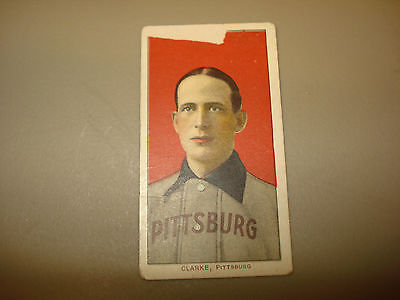 1909 -1911 T206 Clarke Piedmont Back Pittsburg RARE Vintage Tobacco HALL OF FAME