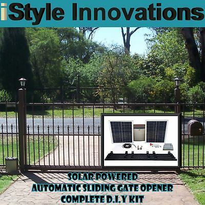 Ultimate Package Ac / Solar Powered Automatic Sliding Gate Opener D.i.y