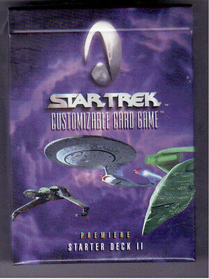 Star Trek CCG Starter Deck II; 60 Beta White border and 8 Limited Cards Per Deck