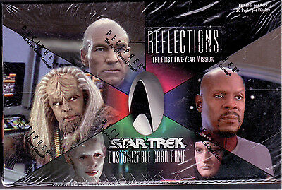 Star Trek CCG Reflections Sealed Box of 30 packs 18 Cards Per Pack Rare.
