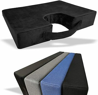MEMORY FOAM Wedge Cushion COCCYX Chiro Lumbar Support Back Pain Relief Car Home