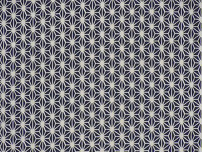 Tenugui Cloth Japanese Fabric Cotton Towel Gauze 'Navy Hemp Leaves Asanoha'