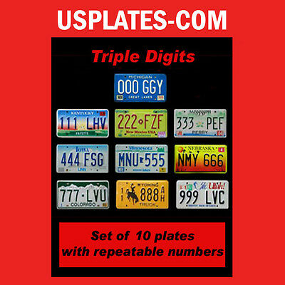 10 United States License Plates Set Usa Number Tag Lot Decor 1 Best Deal Us 111