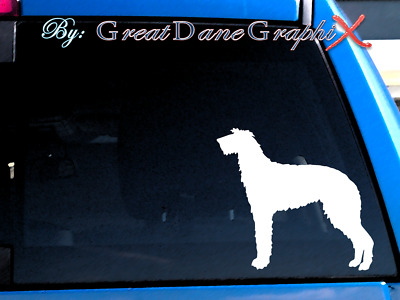 Scottish Deerhound Vinyl Decal Sticker / Color Choice - HIGH QUALITY