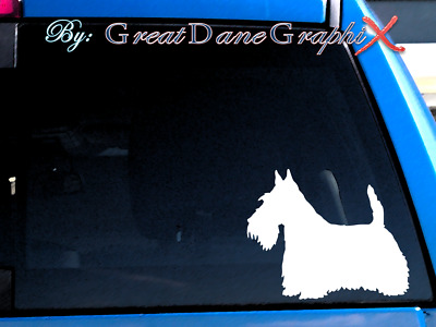 Scottish Terrier #2 Vinyl Decal Sticker / Color Choice - HIGH QUALITY