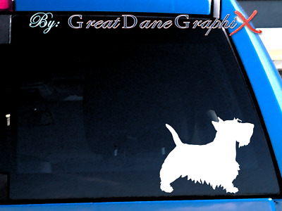 Scottish Terrier #1 Vinyl Decal Sticker / Color Choice - HIGH QUALITY