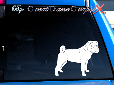 Shar Pei #1 Vinyl Decal Sticker / Color Choice - HIGH QUALITY