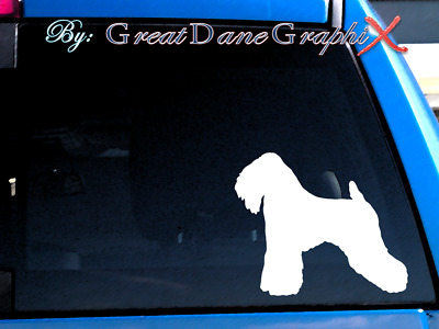 Smooth Coated Wheaten Terrier - Vinyl Decal Sticker / Color Choice-HIGH QUALITY