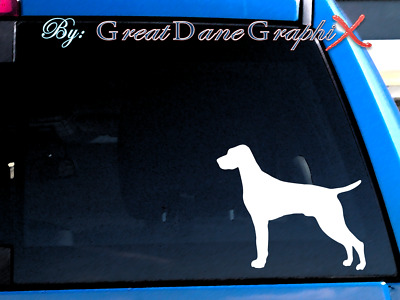 Vizsla Vinyl Decal Sticker / Color Choice - HIGH QUALITY