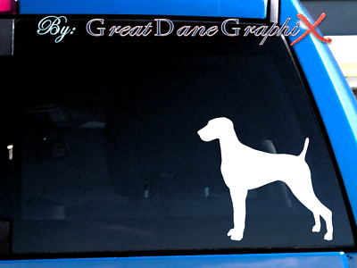 Weimaraner #1 Vinyl Decal Sticker / Color Choice - HIGH QUALITY