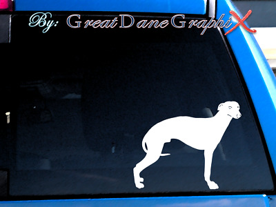 Whippet #3 Vinyl Decal Sticker / Color Choice - HIGH QUALITY
