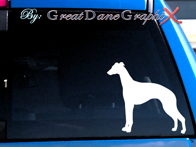 Whippet #1 Vinyl Decal Sticker / Color Choice - HIGH QUALITY
