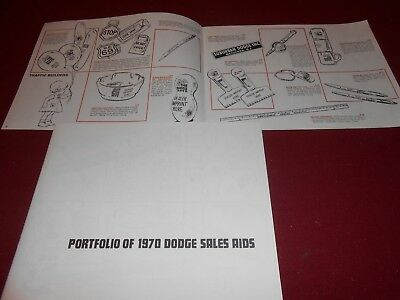 1970 DODGE SALES AIDS BROCHURE SCAT PACK, DODGE BOYS, Etc. 70 PROMOS MEMORABILIA