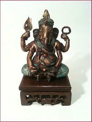 Beautiful  Ganesh  on Lovely Wood Stand