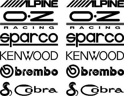 12 Matt Black Car Door Stack  Sponsor Logo Stickers,Graphics,Decals