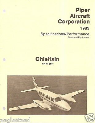 Brochure - Piper - Chieftain - 1983 - Specifications (B385)