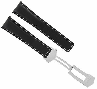 19Mm Leather Watch Band Strap For Tag Heuer 6000 Wh1111-K Wh1151-K1 F1 Black Ws