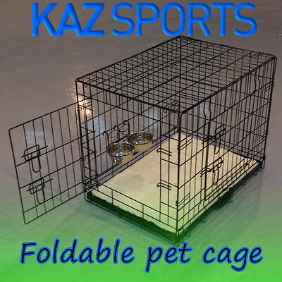 Dog / Cat / Puppy / Pet Foldable Travel Cage Carrier Crate