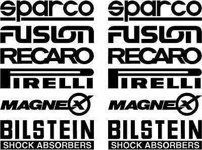 12 Black Car Door Stack  Sponsor Logo Stickers,Graphics,Decals set 3