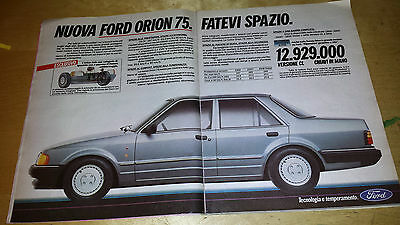 Pubblicita' Advertising Werbung 1986 Nuova Ford Orion 75 (G14)