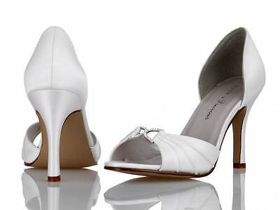 Ivory Satin Bridal Bridesmaid Wedding Shoes Size 3,4,5,6,7,8 By P&P Style Brook