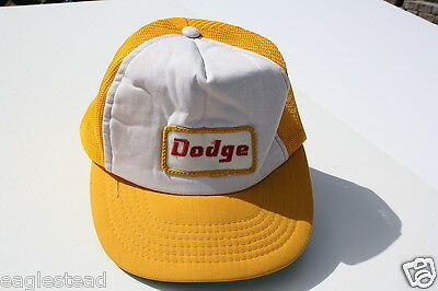 Ball Cap Hat - Dodge - Gold / White - Old Design (H874)