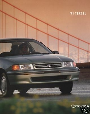 1991 Toyota Tercel 16-page Original Car Dealer Sales Brochure Catalog