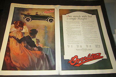 Old 1917 - WILLYS OVERLAND - Automobile Advertisement