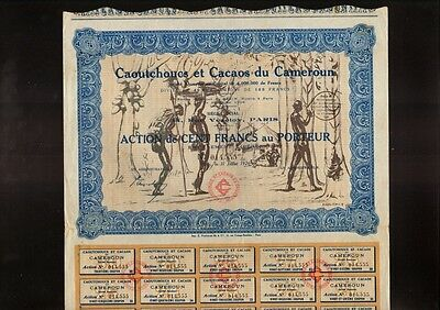 RUBBER & COCAO CAMEROON AFRICA: Caoutchoucs & Cacaos du Cameroun 1926