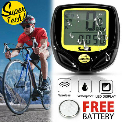 Wireless Bicycle Cycle Bike Computer Speedometer Odometer Meter Waterproof AU